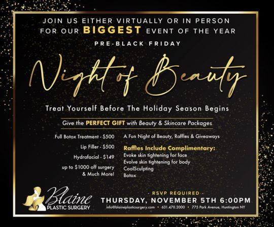 "Promotional banner ""Night of Beauty"""