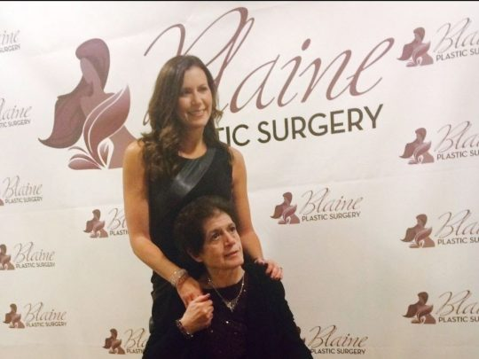 Dr Blaine with mother